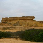 Sandstone formations at Arco, 75 km south of Namibe