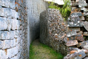 Passageway inside the Great Enclosure, 5 metres high in places