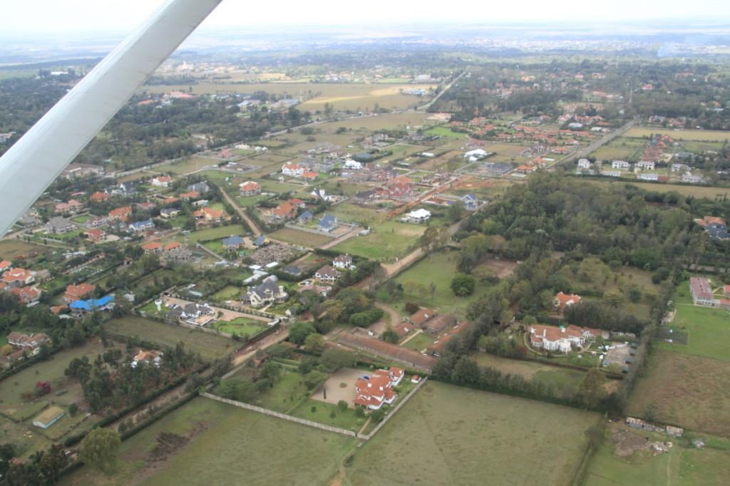 Approaching Wilson Airport, Nairobi