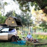 Lalibela, Camping in Roha Hotel back yard